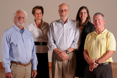 MET Trustees for 2016-17 / From left: Mike Long, Laurie Reed, Richard Pratt (Chair), Cathlean Utzig, Patrick McNeely