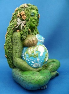 Earth mother holding earth